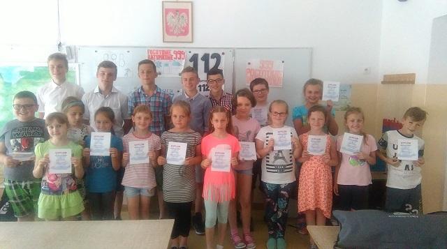 Zespół Szkół w Chorzelowie OKAZ PIERWSZEJ POMOCY DLA NAJMŁODSZYCH!!